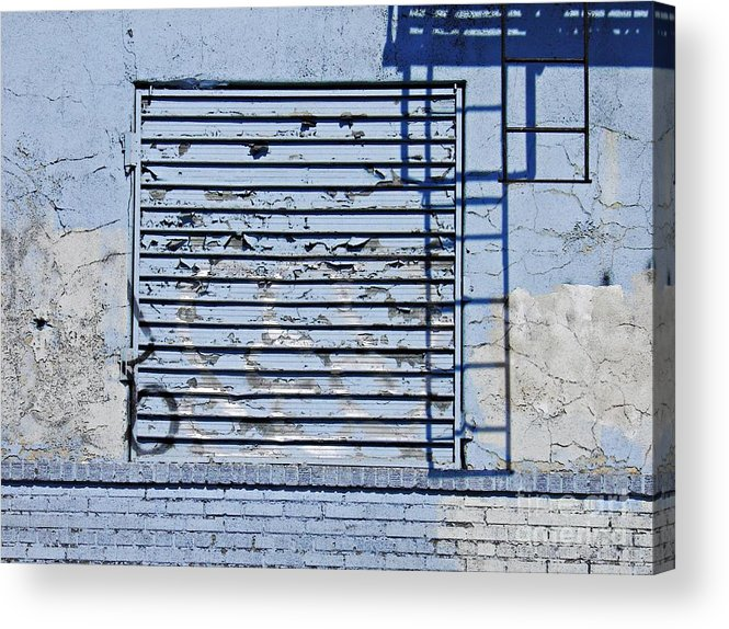 Wall Acrylic Print featuring the photograph Blue Wall by Sarah Loft