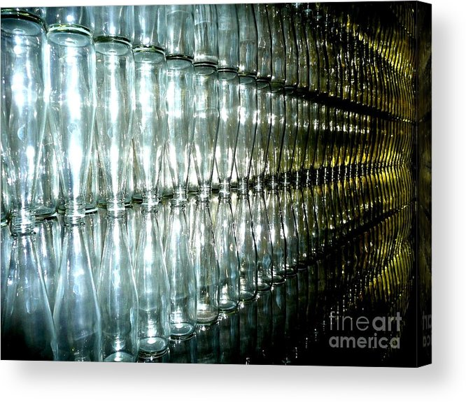 Glass Acrylic Print featuring the photograph Bottle Wall by Sara Graham