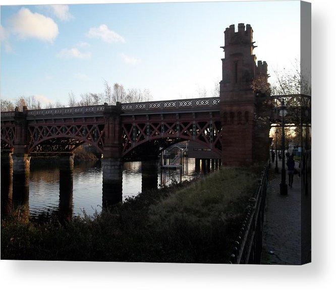 Bridge Acrylic Print featuring the photograph Bridge On The Firth Of Clyde by James Potts