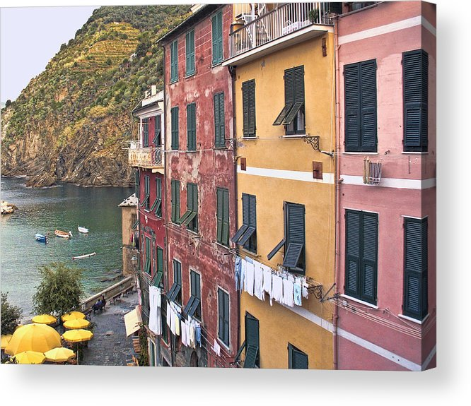 Italy Acrylic Print featuring the photograph Buildings Of Vernazza by Betty Eich