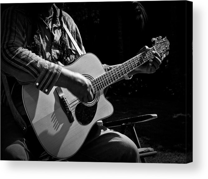 Guitar Acrylic Print featuring the photograph Busker by Ryan Brady-Toomey