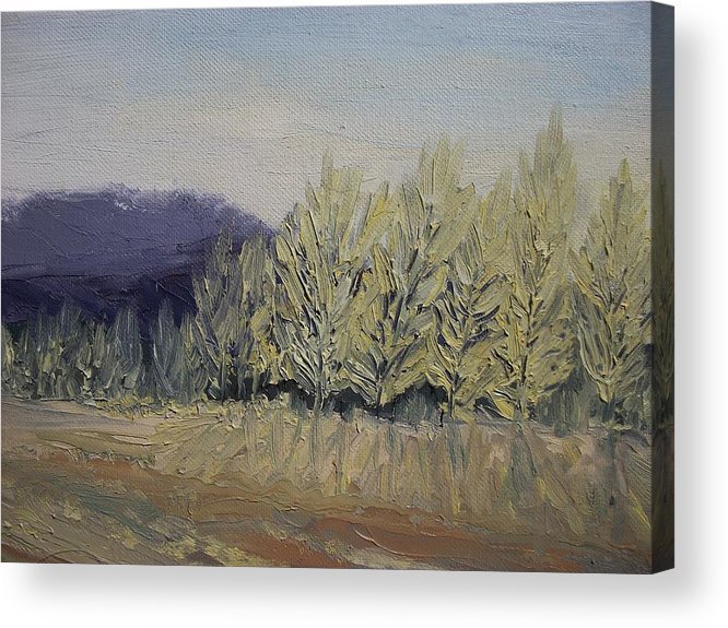 Oil Acrylic Print featuring the painting Cades Cove by Dwayne Gresham