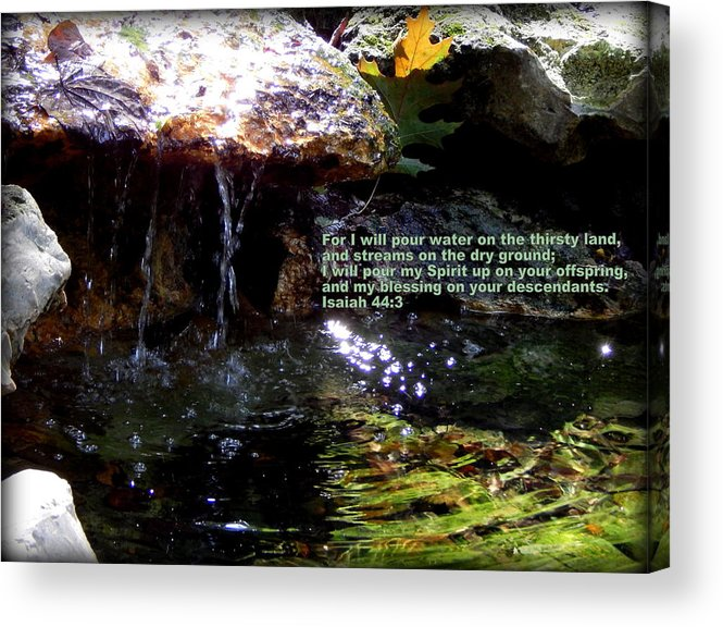 Biblical Scripture Prints Acrylic Print featuring the photograph Calm Waters by Lynn Griffin