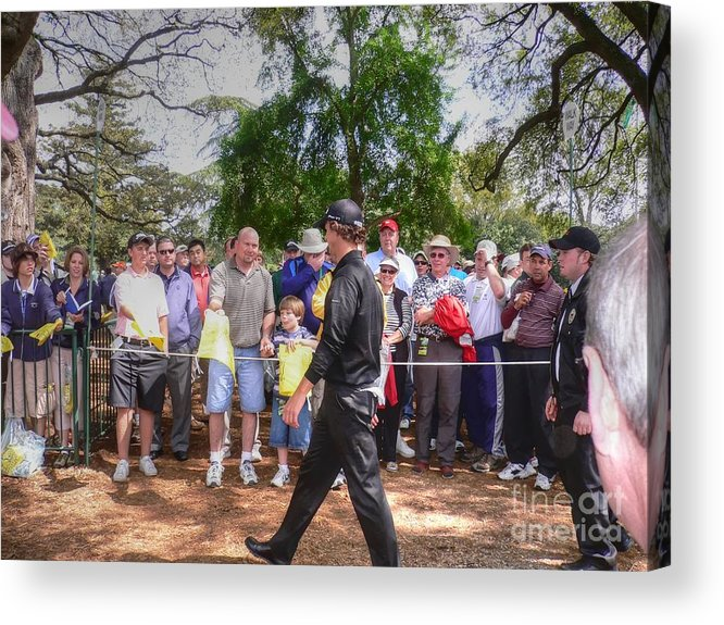 Masters Golf Tournament Acrylic Print featuring the photograph Can You Sign My Card by David Bearden