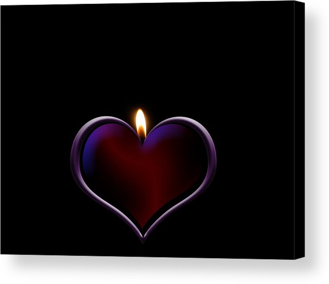 Heart Acrylic Print featuring the photograph Candle Heart by FL collection