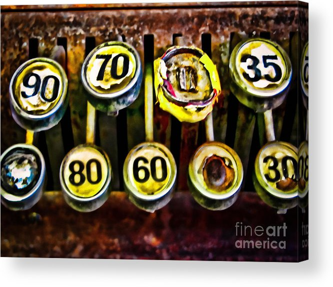 Register Acrylic Print featuring the photograph Cash Out by Colleen Kammerer