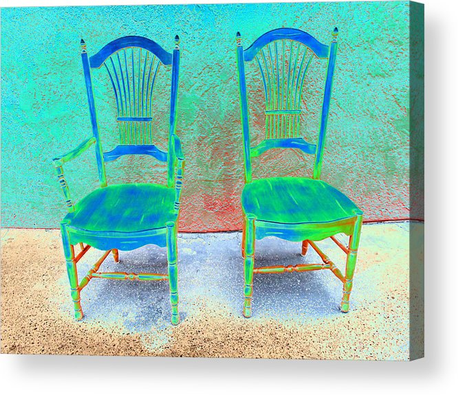 Chairs Acrylic Print featuring the photograph Chairs by Robin Stout