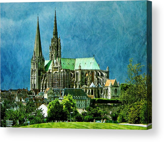 Cathedral Acrylic Print featuring the photograph Chartres Cathedral by Nikolyn McDonald