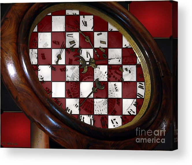 Antique Acrylic Print featuring the painting Checkmate by RC DeWinter