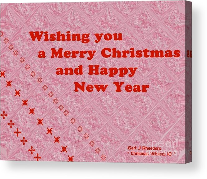 Modern Acrylic Print featuring the painting Christmas Cards And Artwork Christmas Wishes 10 by Gert J Rheeders