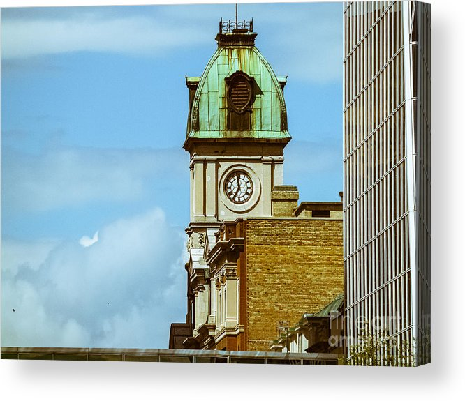 City Scape Acrylic Print featuring the photograph City Center-57 by David Fabian