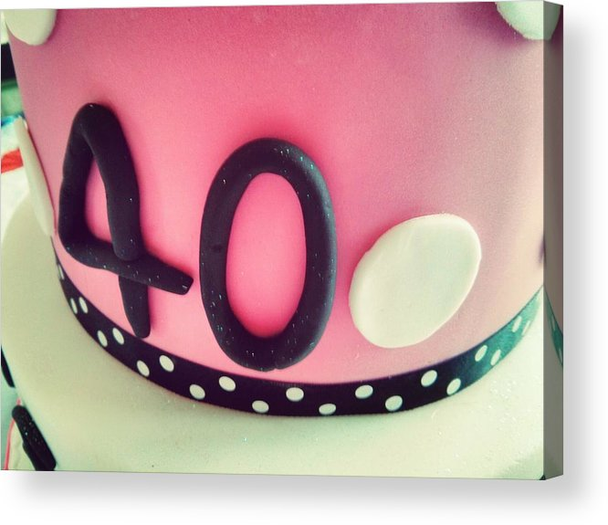Unhealthy Eating Acrylic Print featuring the photograph Close-up Of Birthday Cake by Neil Reid / EyeEm