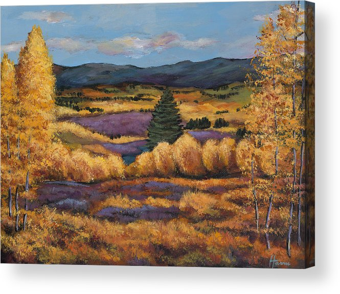 Autumn Aspen Acrylic Print featuring the painting Colorado by Johnathan Harris