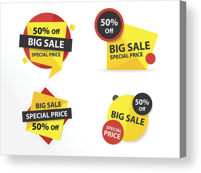 Colorful Shopping Sale Banner Template, Discount Sale Banner Collection Set  Acrylic Print