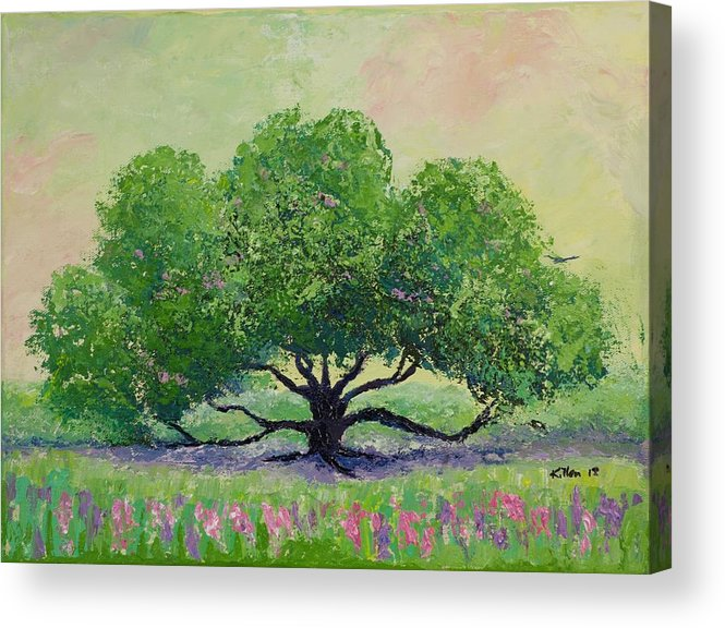 Killen Acrylic Print featuring the painting Comfort by William Killen