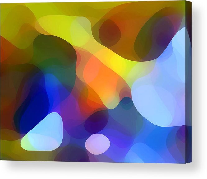 Bold Acrylic Print featuring the painting Cool Dappled Light by Amy Vangsgard