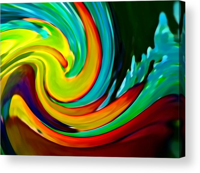 Waves Acrylic Print featuring the painting Crashing Wave by Amy Vangsgard