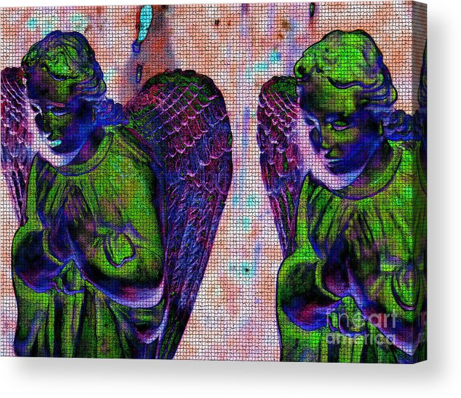 Diane Dimarco Art Acrylic Print featuring the photograph Creche Angels 9 by Diane DiMarco
