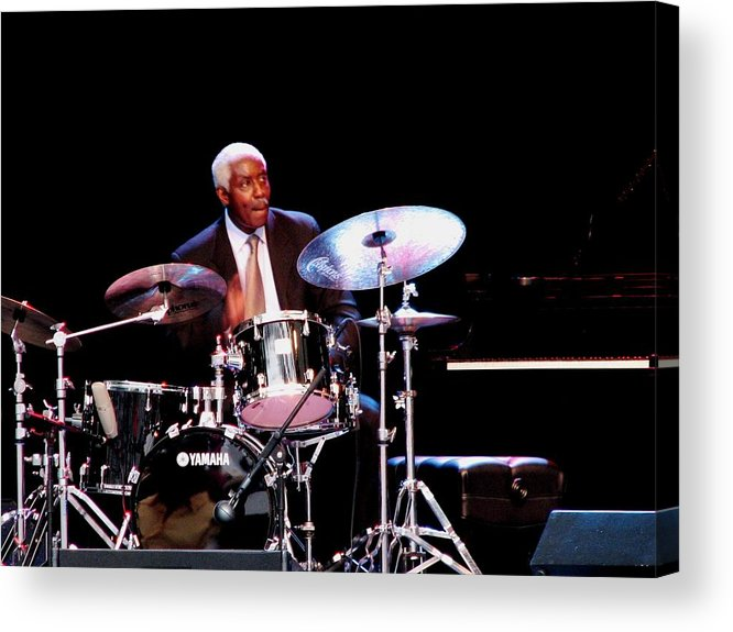 Curtis Boyd Acrylic Print featuring the photograph Curtis Boyd On Drums by Cleaster Cotton