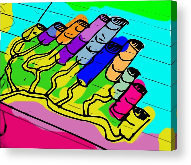 Digital Art Acrylic Print featuring the photograph Cylinder Divergence by Michael Witzel