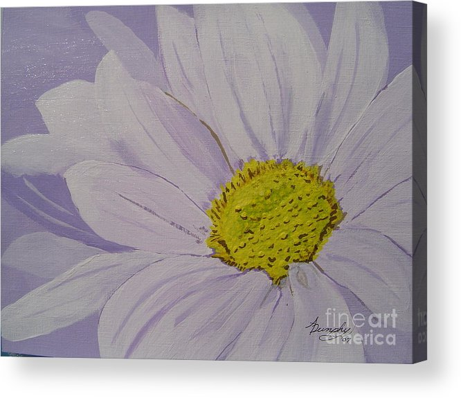 Daisy Acrylic Print featuring the painting Daisy by Anthony Dunphy