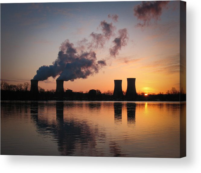 Three Acrylic Print featuring the photograph Dawn At Three Mile Island by Emily Northey