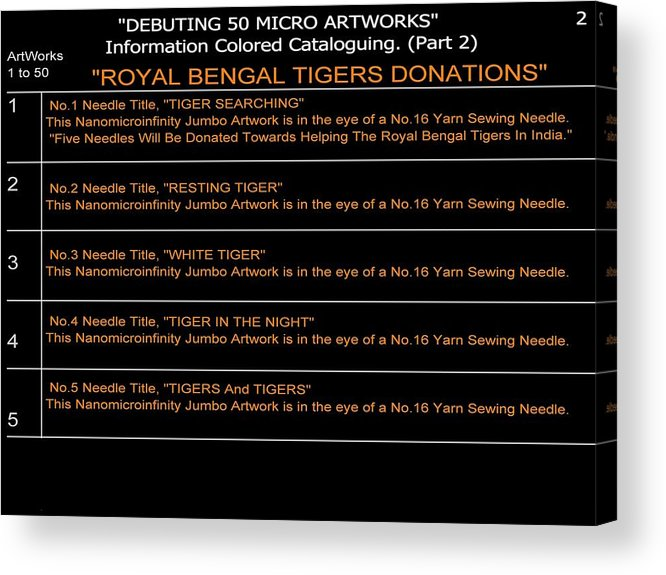 Nanomicroinfinity Art Acrylic Print featuring the digital art Debuting 50 Micro Artworks Part 2 by Phillip H George