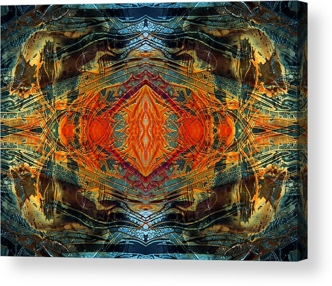 Surrealism Acrylic Print featuring the digital art Decalcomaniac Intersection 2 by Otto Rapp