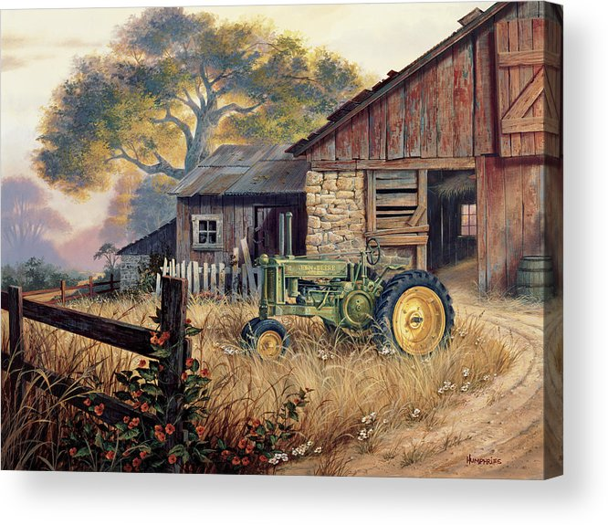 Landscape Acrylic Print featuring the painting Deere Country by Michael Humphries