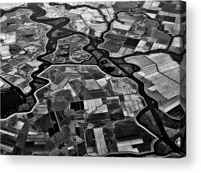 Aerial Acrylic Print featuring the photograph Delta by Rob Darby