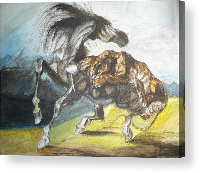 The Horse Acrylic Print featuring the painting Destiny by Prasenjit Dhar