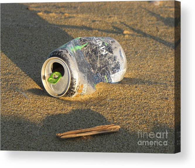 Schuminweb Acrylic Print featuring the photograph Discarded Energy Drink Can by Ben Schumin
