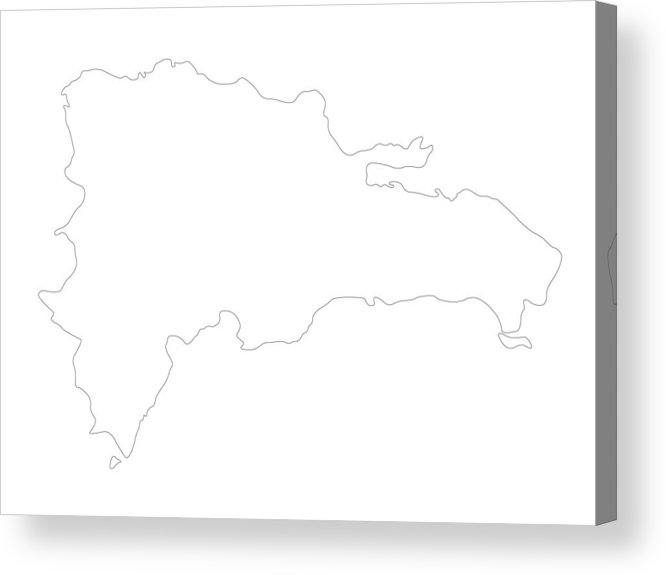 Dominican Republic Map Acrylic Print by -elika-