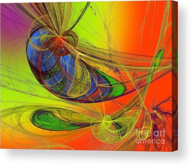 Andee Design Children's Rooms Art Acrylic Print featuring the digital art Dragonfly Fancy by Andee Design