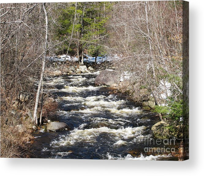 River Acrylic Print featuring the photograph Early Spring Thaw by Nancie Johnson