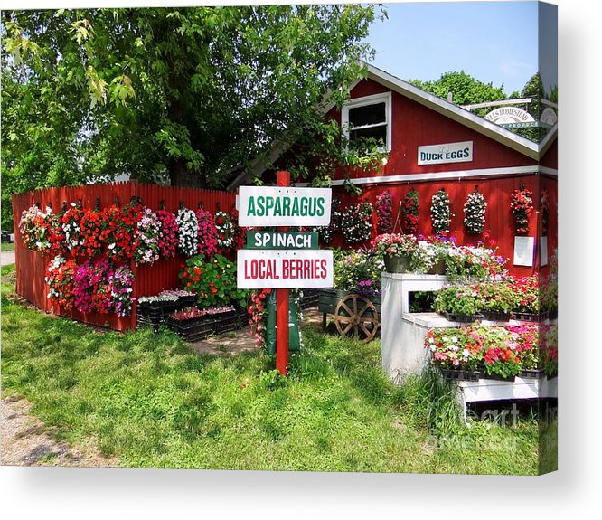 Farmstand Acrylic Print featuring the photograph East End Farmstand by Ed Weidman