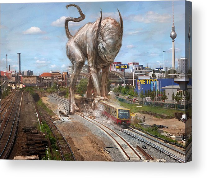 Berlin Acrylic Print featuring the painting Eeek Berlin by Ethan Harris