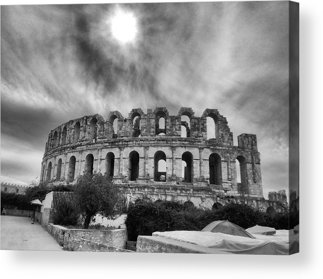 Architectur Acrylic Print featuring the photograph El Jem Colosseum 2 by Dhouib Skander