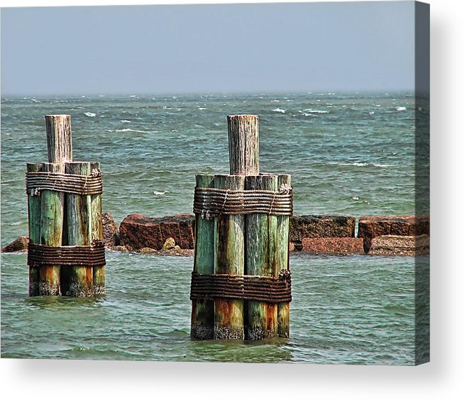 Ocean Acrylic Print featuring the photograph Endlessly Staring Out To Sea by Wendy J St Christopher