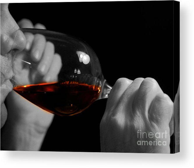 Beverage Acrylic Print featuring the photograph Enjoying Wine by Patricia Hofmeester