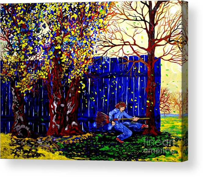 Landscape Fantasy Acrylic Print featuring the painting Fall Music 2012 by Michael Taylor