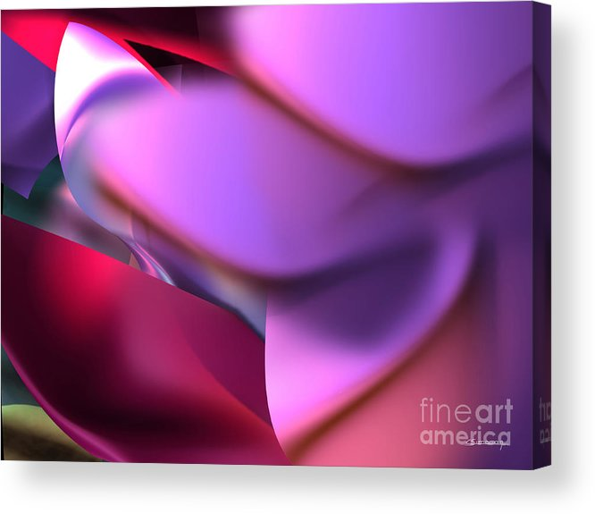 Femininity Acrylic Print featuring the painting Femininity by Christian Simonian