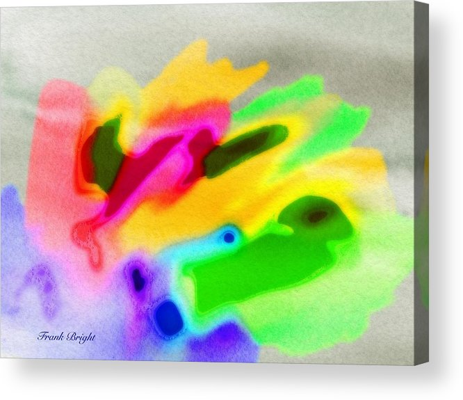 Fish Acrylic Print featuring the digital art Fish Abstract by Frank Bright