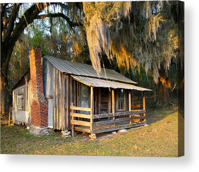 Cabin Acrylic Print featuring the photograph Florida Cracker Cabin by Randi Kuhne