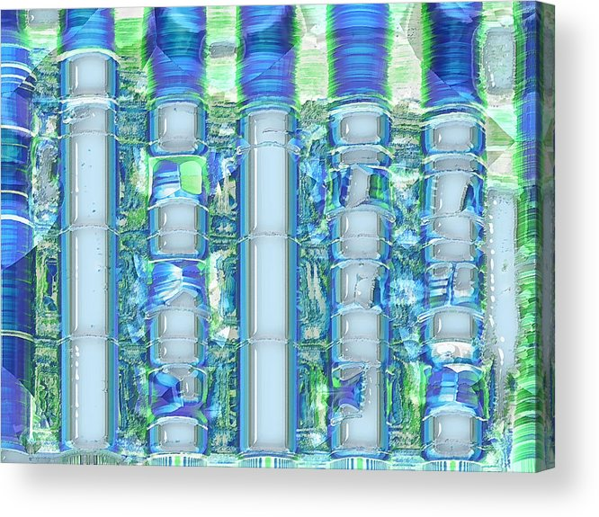 Abstract Acrylic Print featuring the digital art Freeze Warning by Wendy J St Christopher