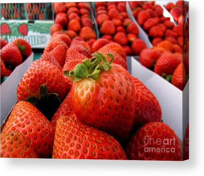 Fruit Acrylic Print featuring the photograph Fresh Strawberries by Peggy Hughes