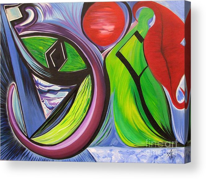 Abstract Acrylic Print featuring the painting Friday by Aimee Vance