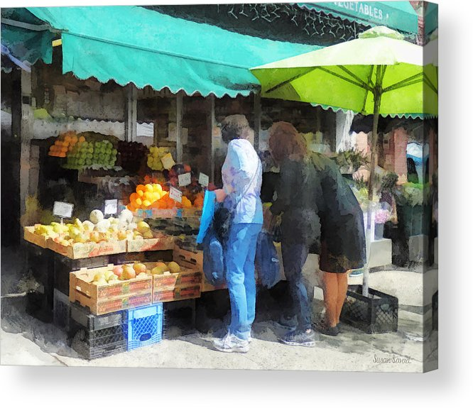 Fruit Acrylic Print featuring the photograph Fruit For Sale Hoboken Nj by Susan Savad