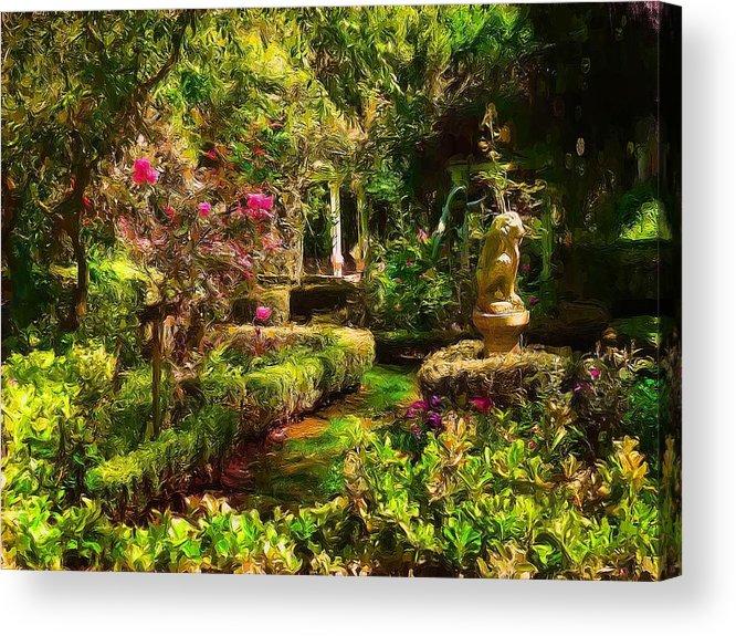 Gardens Acrylic Print featuring the digital art Garden Impressions by Cary Shapiro