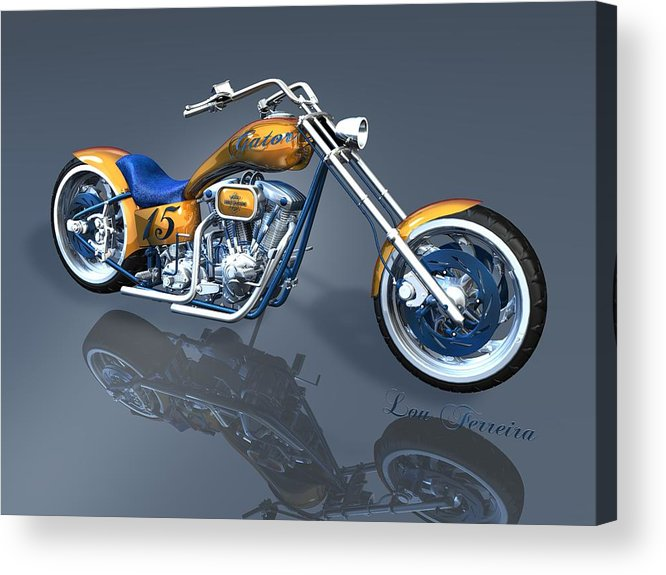 Gator Chopper Acrylic Print featuring the digital art Gator Chopper by Louis Ferreira